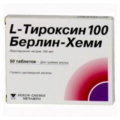 L-Тироксин 100 Берлин-Хеми таб. 100мкг №50