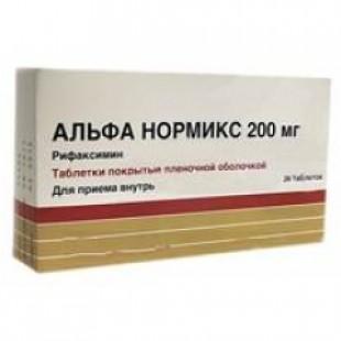 Альфа нормикс таб. п.п.о. 200мг №12