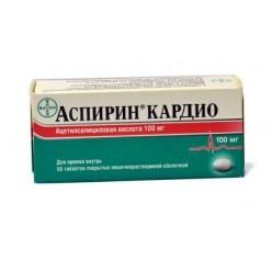 Аспирин кардио таб. п.о кш/раств 100мг №28
