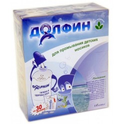 Долфин устройство д/промывания носа д/детей 120мл+ср-во 1г N30