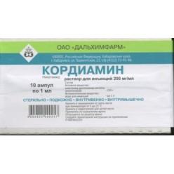 Кордиамин р-р д/ин. 250мг/мл 1мл №10