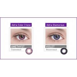 Линзы контактные цветные adria glamorous 8,6 2 pack голубой 0,00