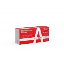 Метопролол-Акрихин таб. 50мг №30