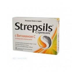 Стрепсилс с витамином С таб. д/рассас №24  (апельсин)