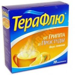 Терафлю от гриппа и простуды пор. д/р-ра внутр лимон 22,1г №10