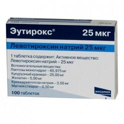 Эутирокс таб. 25мкг №100